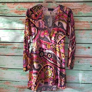 Zara NWT Fun Paisley Tunic Blouse Medium